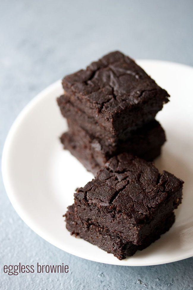 eggless brownie recipe | eggless chocolate brownie recipe ...