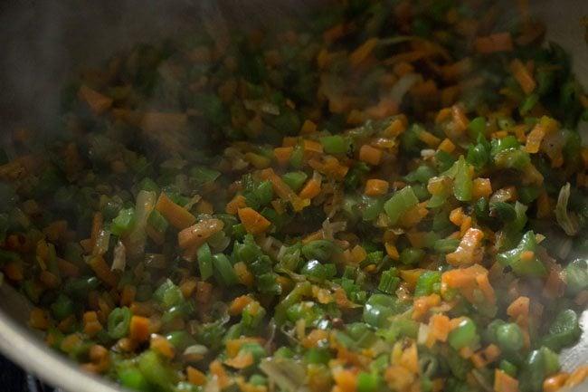 preparing burnt garlic fried rice recipe