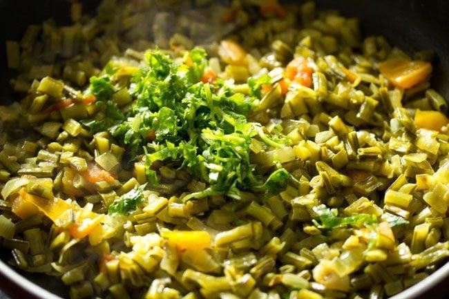 making gawar bhaji recipe