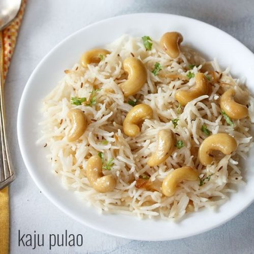 kaju pulao recipe, cashew pulao recipe
