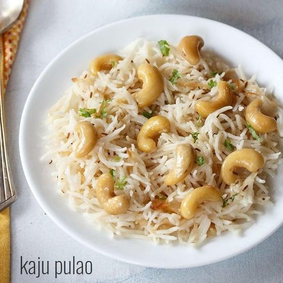 kaju pulao recipe, cashew pulao recipe
