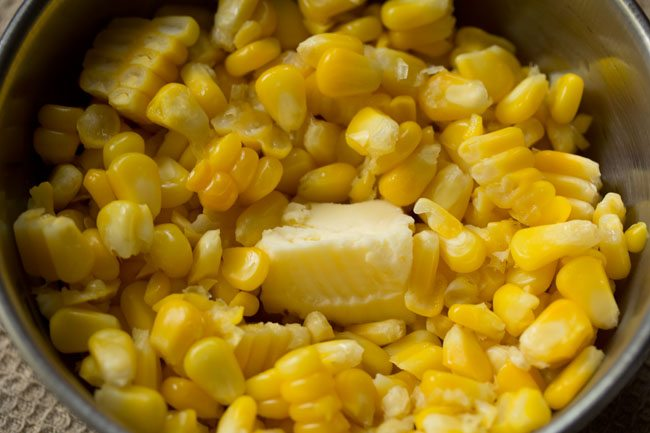 butter to make masala corn recipe