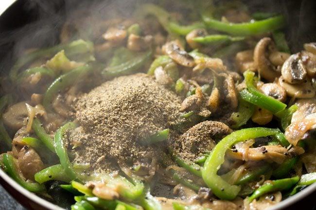 pepper for making preparing mushroom pepper fry recipe
