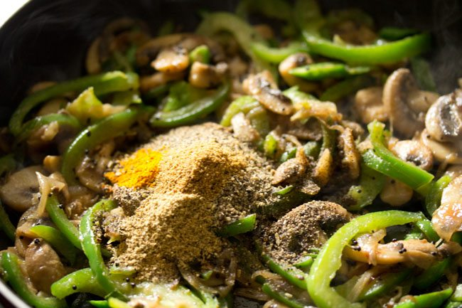 spices for making preparing mushroom pepper fry recipe