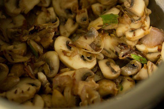 mushroom for mushroom pulao recipe