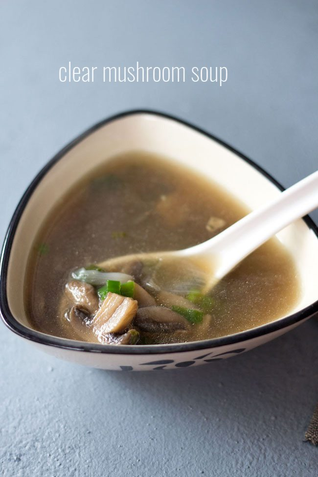 Chinese Style Clear Mushroom Soup Vegan Gluten Free
