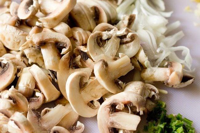 ingredients for mushroom soup recipe