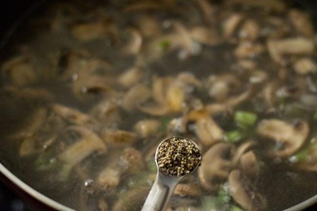 pepper for mushroom soup recipe