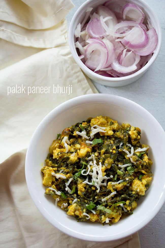 Palak paneer bhurji recipe how to make palak paneer bhurji recipe forumfinder Gallery