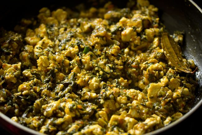 paneer palak bhurji recipe