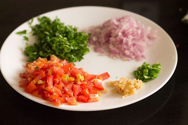 ingredients for paneer bhurji sandwich recipe