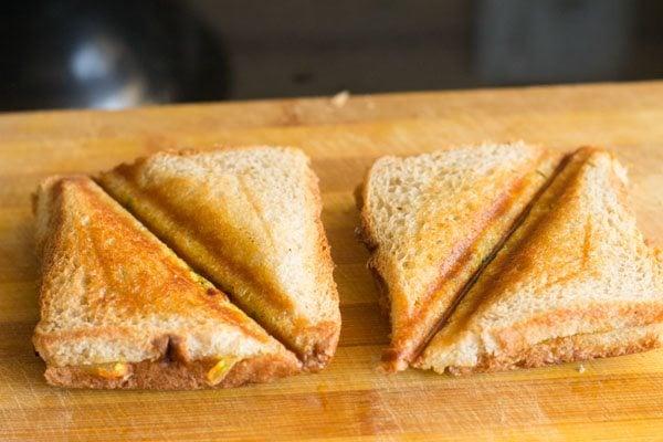 butter for paneer bhurji sandwich recipe
