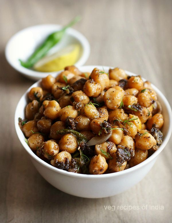 sukhe chole recipe