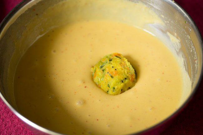 frying bonda - veg bonda recipe