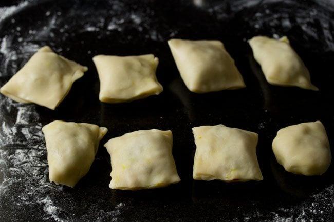 preparing veg puff recipe