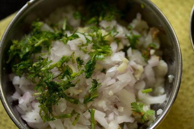 onions for aloo chokha recipe
