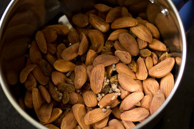roasted almonds for making badam ladoo recipe