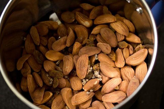 roasted almonds for making badam ladoo recipe