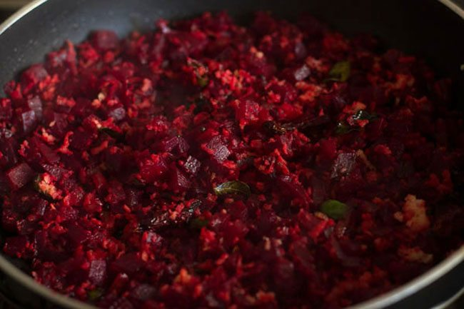 beetroot sabzi recipe, dry beetroot curry recipe, beetroot bhaji recipe