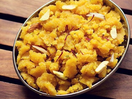 besan halwa recipe, how to make besan ka halwa recipe ...