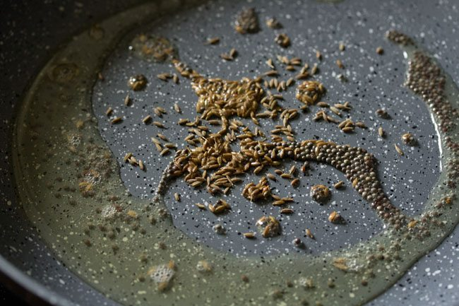 cumin for capsicum besan bhaji recipe