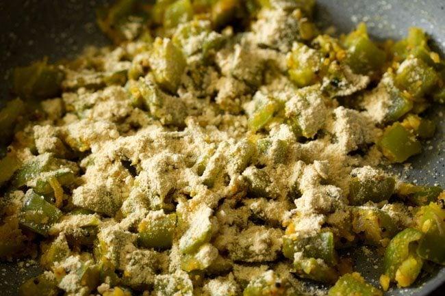 making capsicum besan bhaji recipe