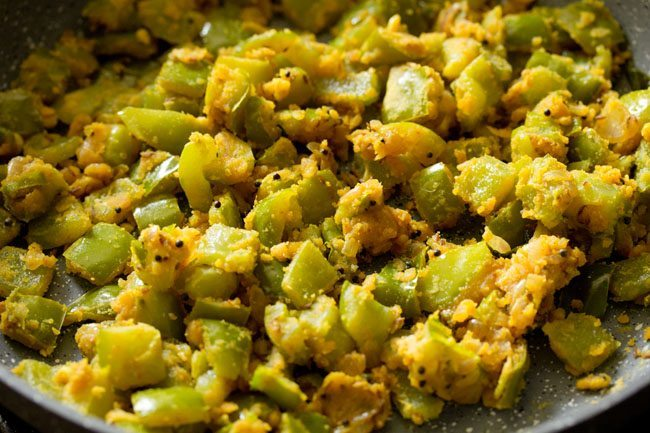 making capsicum besan bhaji recipe
