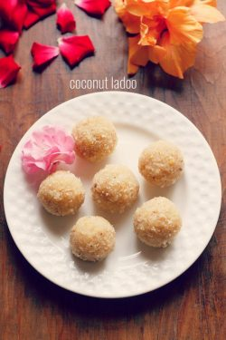 coconut ladoo recipe with khoya | how to make coconut ladoo with mawa