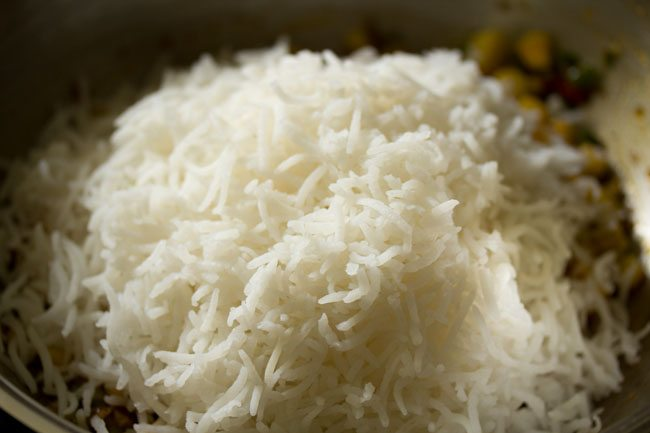 rice for making schezwan fried rice recipe