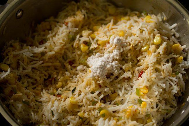 salt for making corn schezwan fried rice recipe
