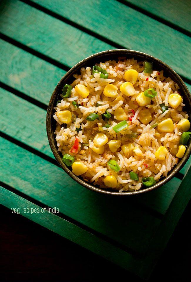 corn schezwan fried rice