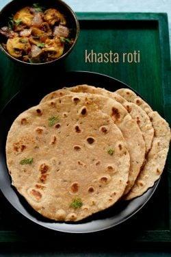 khasta roti recipe, how to make khasta roti recipe