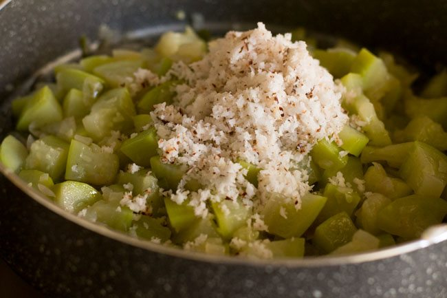 preparing lauki sabzi recipe