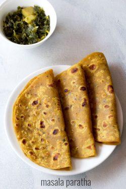 masala paratha recipe, how to make masala paratha | paratha recipes
