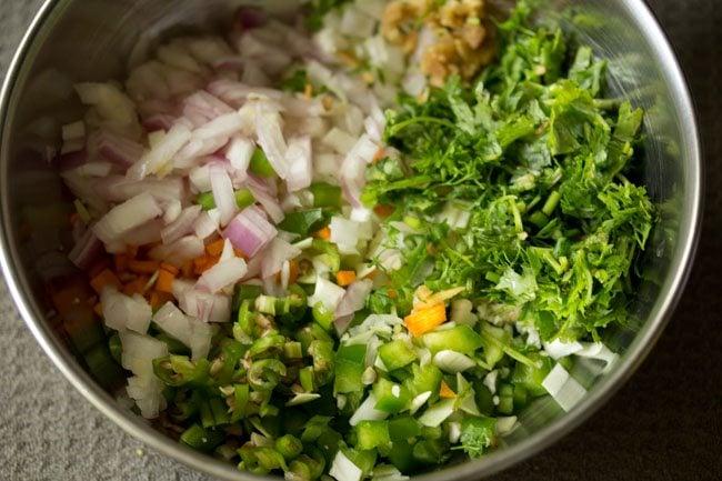 veggies to make mix veg pakora recipe