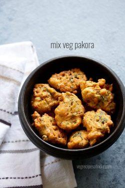 vegetable pakora recipe, how to make mix vegetable pakoda recipe