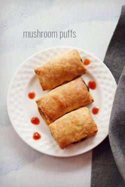 mushroom puffs recipe, bakery style delicious mushroom puffs recipe