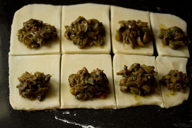 preparing mushroom puff recipe