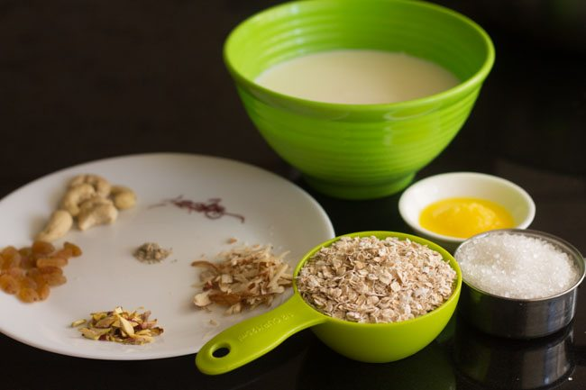 dry fruits to make oats kheer recipe