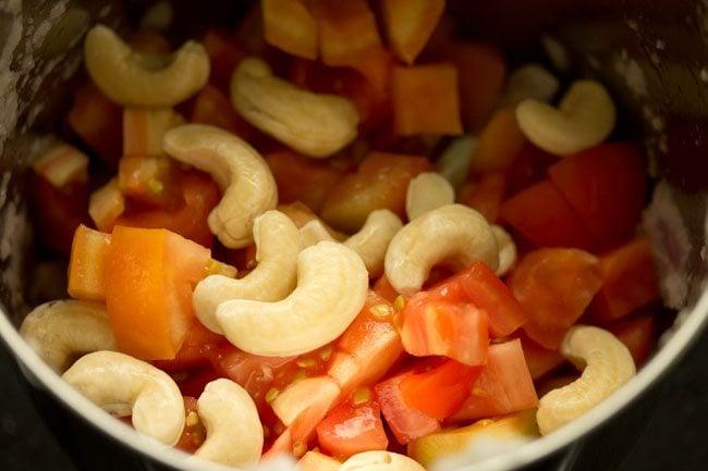 cashews to make paneer masala recipe
