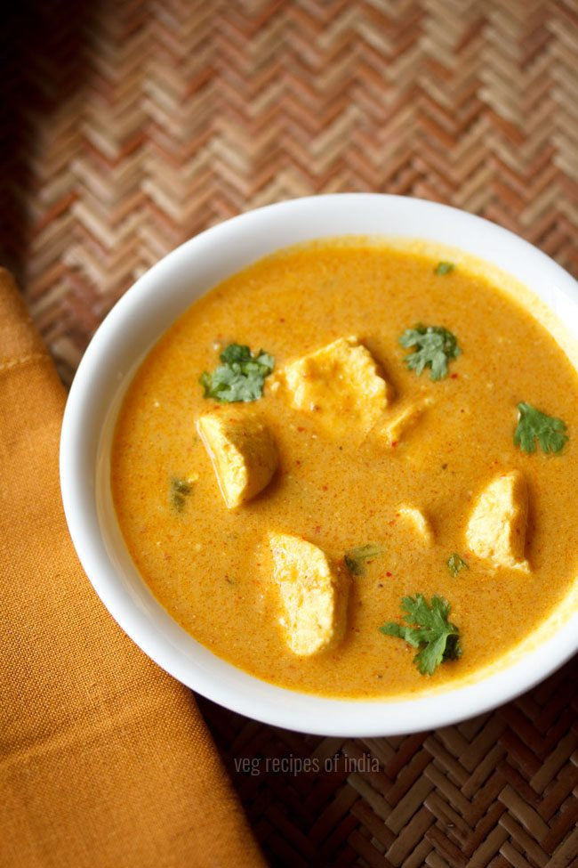 paneer masala, paneer curry