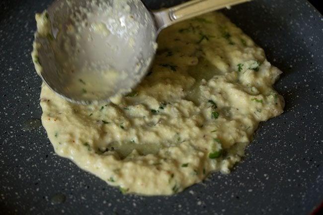 preparing rava chilla recipe