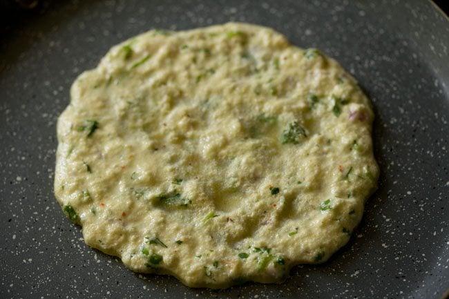 cooking cheela - rava chilla recipe