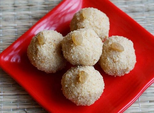 rava ladoo recipe with khoya