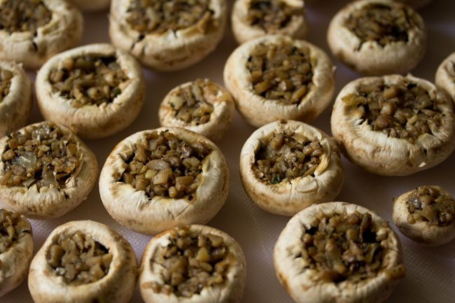 mushroom stuffing for baked stuffed mushrooms recipe