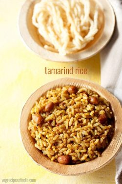 tamarind rice recipe, how to make tamarind rice recipe | puliyodharai recipe