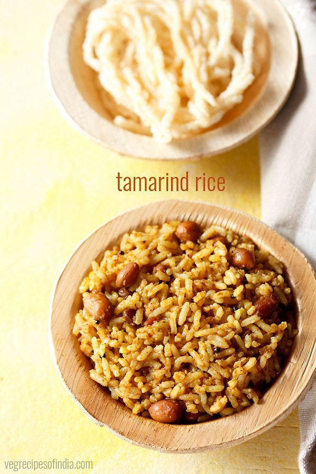 tamarind rice recipe, how to make tamarind rice recipe   puliyodharai ...
