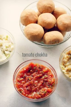 tomato chokha recipe for litti chokha | tomato bharta recipe, tomato chokha