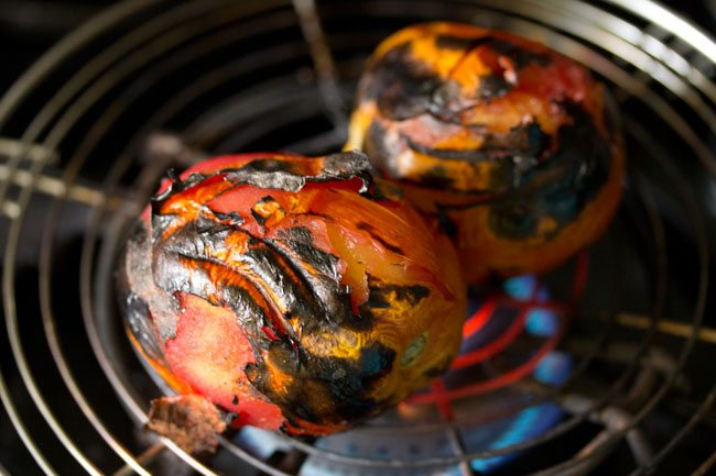 tomatoes for making tomato chokha recipe