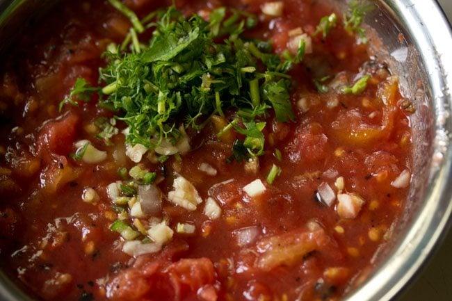 herbs to make tomato chokha recipe